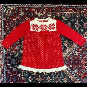 6-12M Gymboree Baby Girl Red Sweater Dress